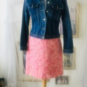 Pink Tweed Skirt size 8